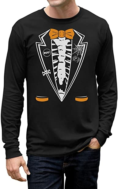 Halloween Suit Tuxedo Costume Men/'s T-shirt Quality New Quality Tee