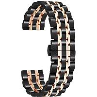 Romacci Pulseiras de relógio de aço inoxidável de 22 mm com ponta reta pulseira de liberação rápida Pulseira de relógio…