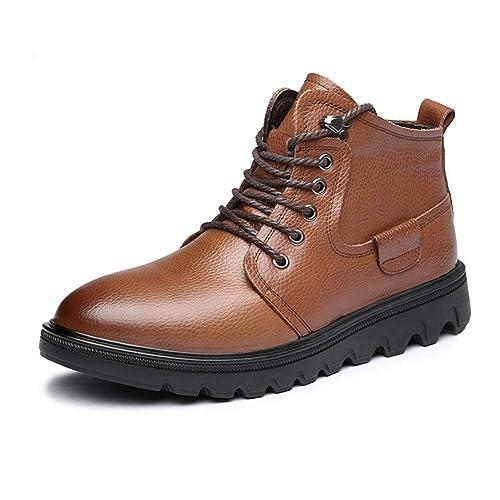 Botas De Nieve De Invierno Zapatos De Cuero para Hombre Calzado Casual Botines Negros con Cordones Botas Martin CóModas: Amazon.es: Zapatos y complementos