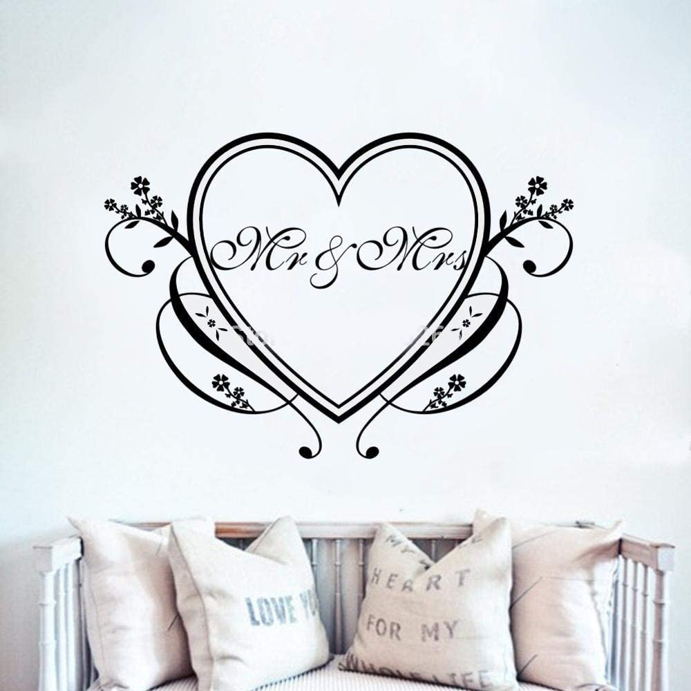 Family Mural Art Home Sofa Classroom Background Decoration Wall Sticker Mr @ Mrs Franterd Love Letter Removable Wall Decal for Weding