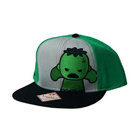 06a0edd57a331 Image Unavailable. Image not available for. Color  Marvel Kawaii Hulk  Snapback Hat