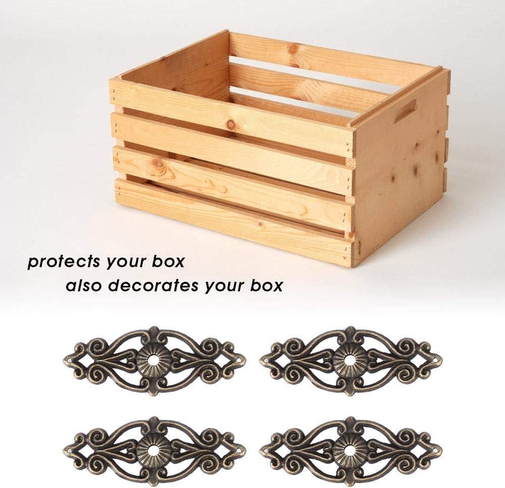 12pcs Box Corner Protectors Antique Style Jewelry Scrapbook Album Protector Corner Furniture Decor Edge Cover Guard Album Home Decor