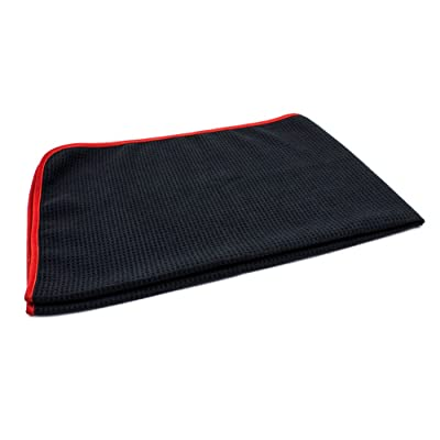 "Autofiber Big Thirsty Microfiber Waffle Drying Towel 25""x36"" (Black): Automotive"