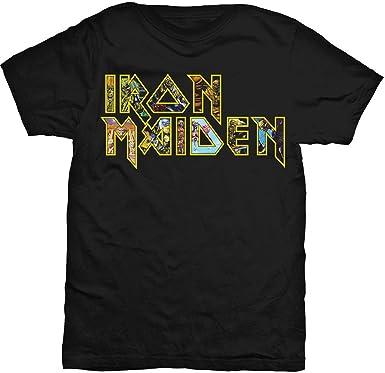 Iron Maiden T-shirt Logo Men/'s Black