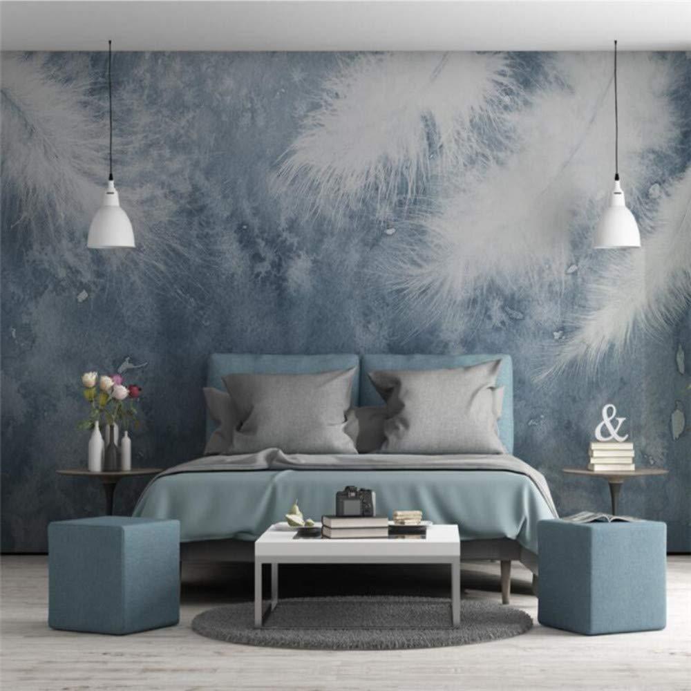 Tapete Wandbild Benutzerdefinierte Wohnzimmer Schlafzimmer Handgemalte Federn Kleine Frische Skandinavische Wanddekoration, 350 × 245 Cm