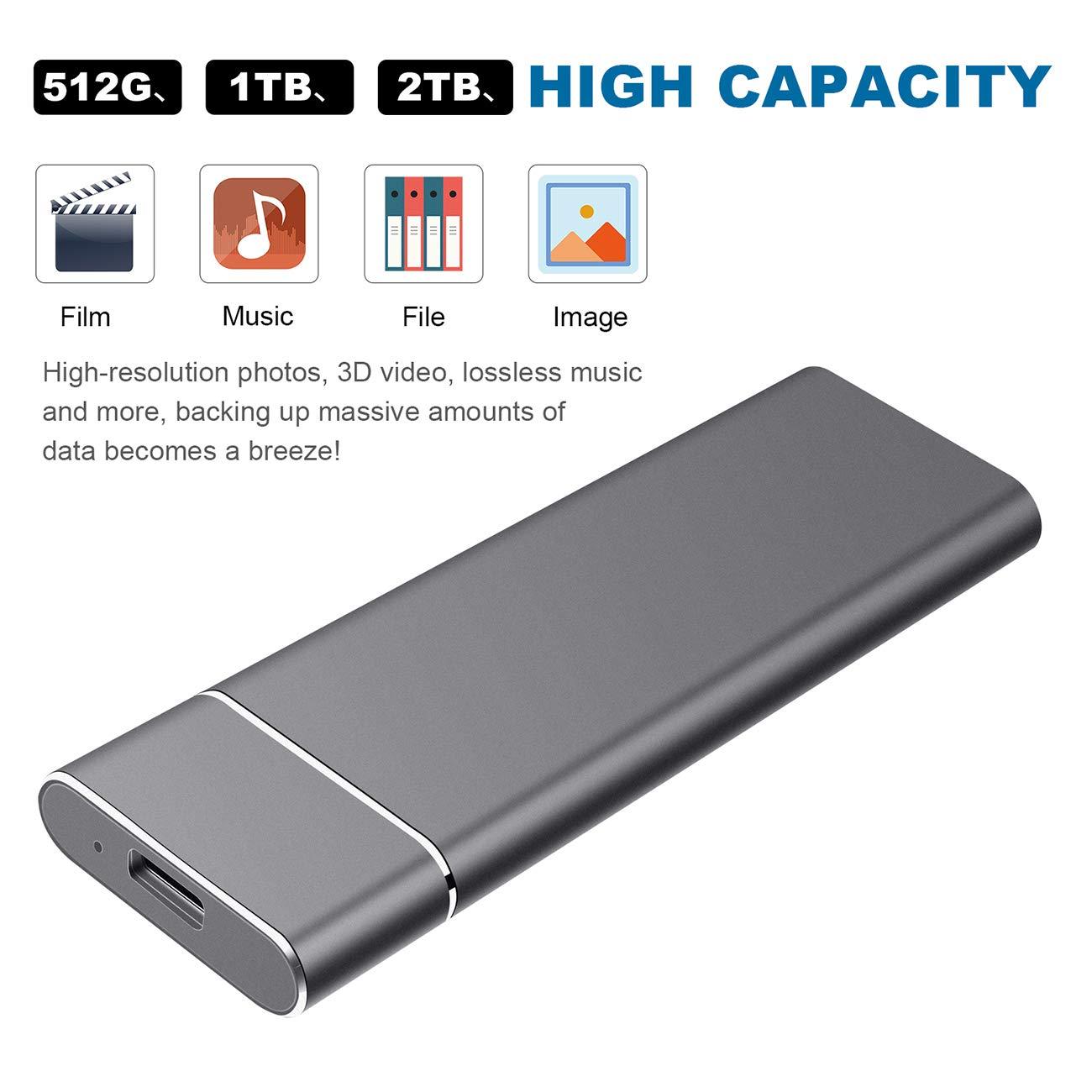 YOOSUN Externe Festplatte 2tb USB 3.1 Externe Festplatte f/ür Mac,PC,PS4,Xbox 2tb, schwarz