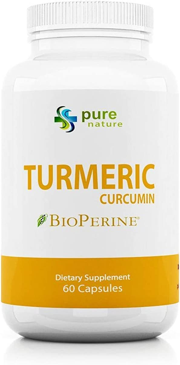 Turmeric Curcumin PureNature 100% Pure Curcumin Extract (Standardized to 95% Curcuminoids) 1,300mg 60 Capsules