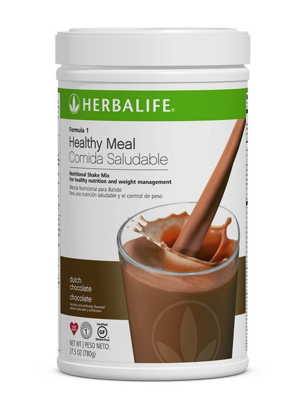Herbalife Formula 1 Healthy Meal Nutritional Shake Mix 10 Flavor Dutch Chocolate