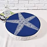 MEMORECOOL LIGHT UP YOUR HOME Yoga Meditation Tatami Floor Pillow, Grid Style Round Seat Cushion Indoor, for Kids Play, 16 Inch
