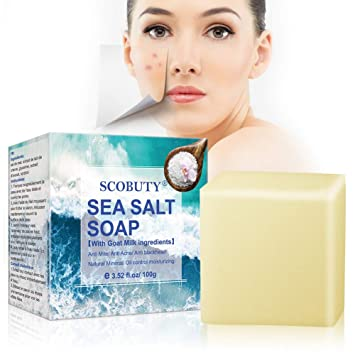 Amazon Com Sea Salt Soap Sea Mineral Soap Invigorating Bath Soap Cleaner Removal Pimple Pores Acne Goat Milk Moisturizing Face Care Soap For All Skin Type Beauty