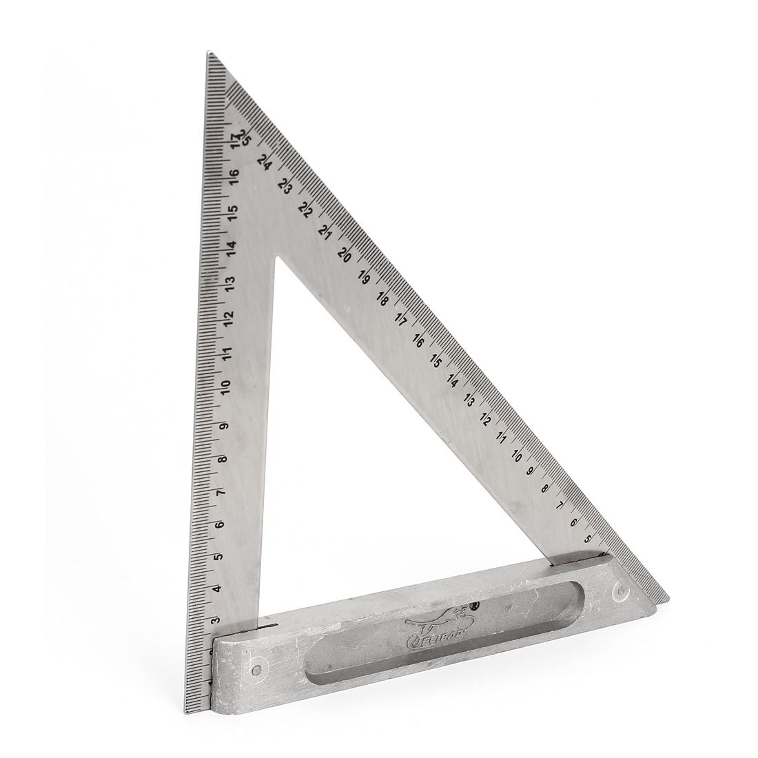 uxcell 170mm 250mm Double Side Scale Metric Triangle Ruler Square