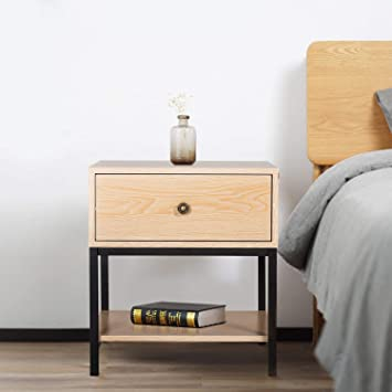 Amazon.com: Kinbor - Mesita de noche para dormitorio, salón ...