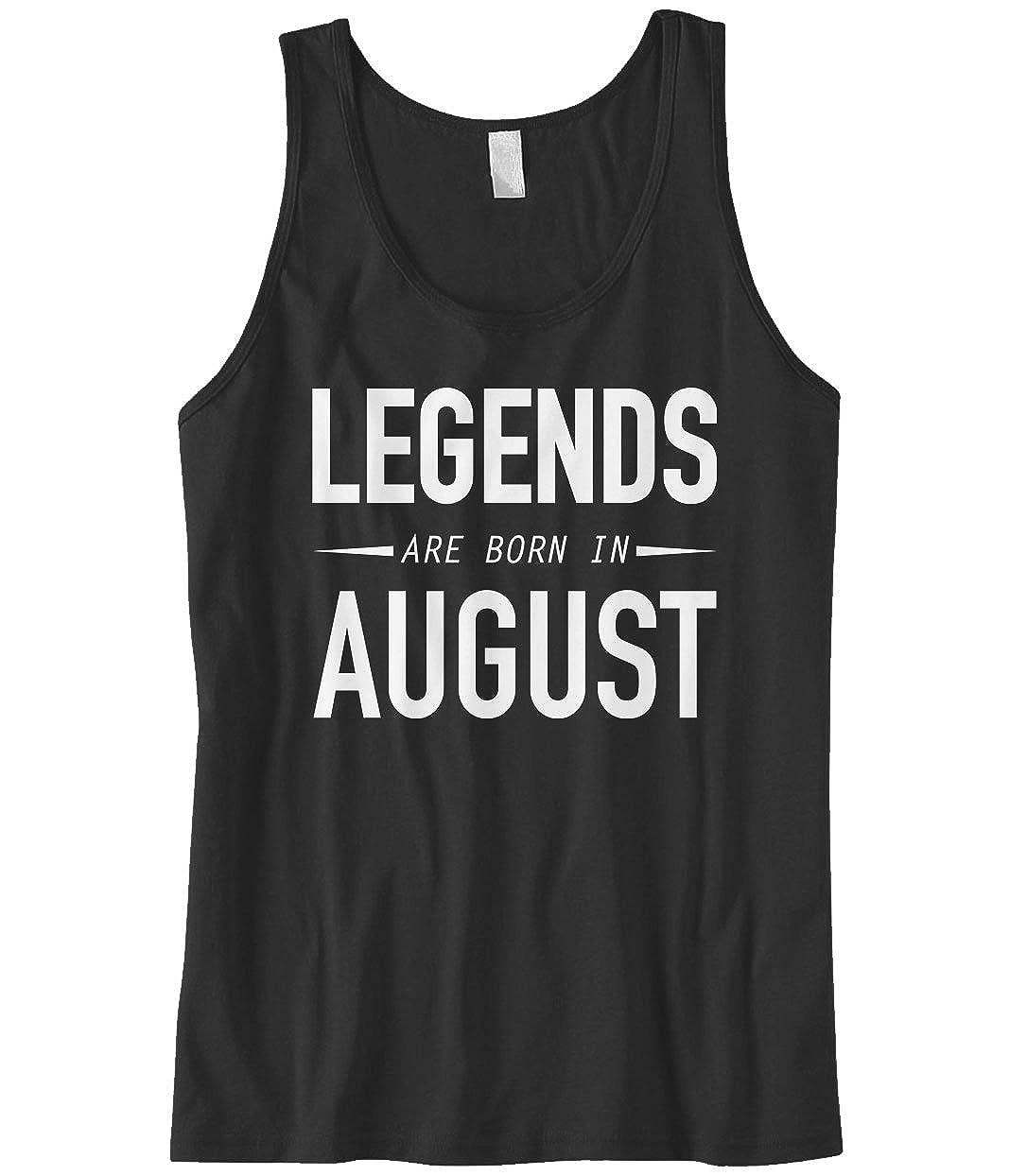 Cybertela Mens Legends are Born in August Tank Top