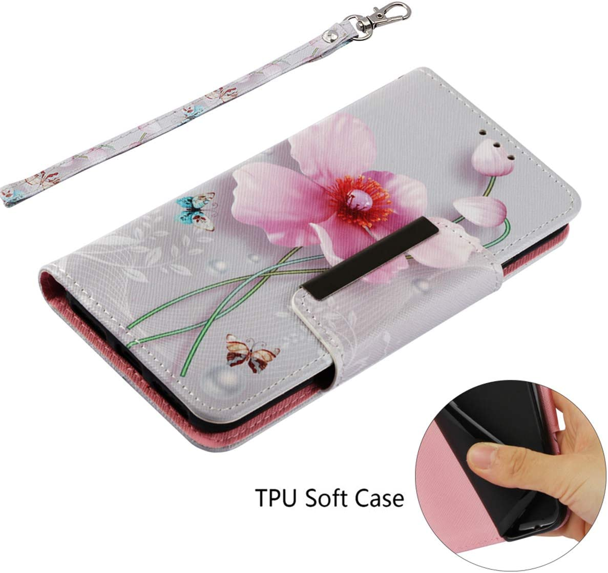 Case for Xiaomi Redmi 6 Redmi 6A Color Pattern PU Leather Case Book Case Flip Wallet Case Cover for Xiaomi Redmi 6 Redmi 6A Shell with Card Slots Stand Magnetic Closure