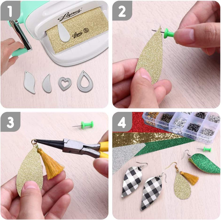 Felt丨Card丨Wrapping Gift丨Scrapbooking丨DIY Crafts Supplies 15 PCS Earring Cutting Dies for Leather,Metal Cutting Dies for Making Earrings Classic