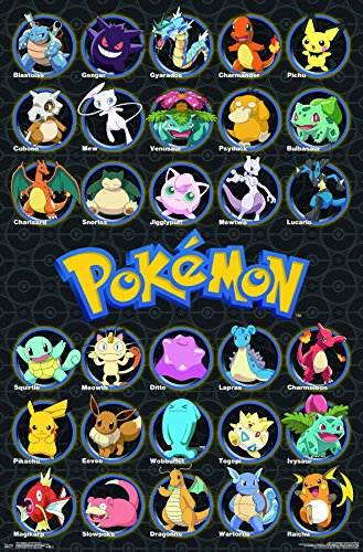 (Trends International Wall Poster Pokémon - All Time Favorites, 22.375