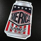 funny beer cooler - Merica Beer Can - Sticker