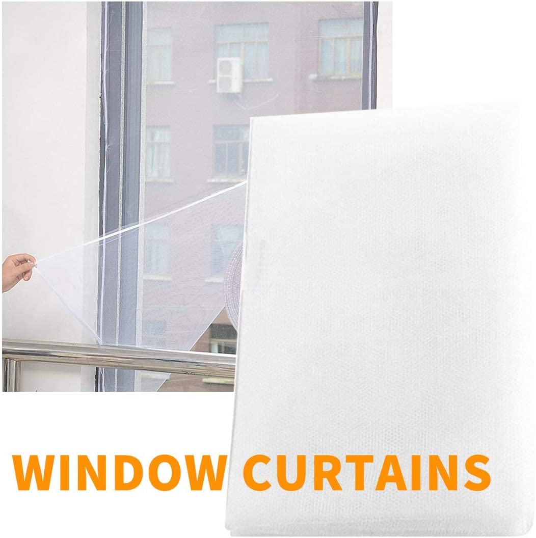 Anti Mosquito Door Window Mesh Fabric Curtain Protector Fly Screen Door Grille Summer Style Mesh Net White