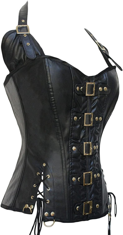 Corset zippé avec laçage sur les cotés simili cuir souple de bonne qualité