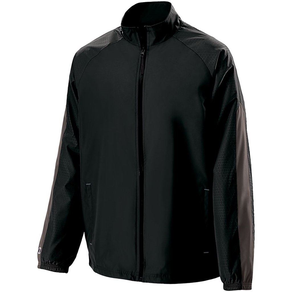 Holloway Youth Bionic Jacket (Large, Black/Carbon) by Holloway