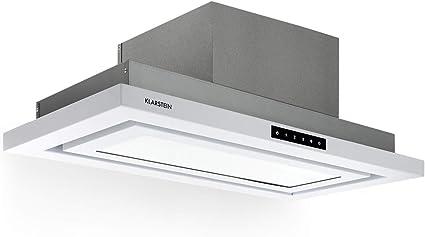 Klarstein Lumiera campana extractora de humos - 70 cm, clase A, 750 m3/h, extracción y ventilación, Touch Control, 3 niveles de potencia, filtro de grasa de aluminio, blanco: Amazon.es: Hogar