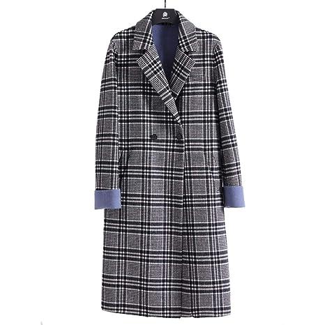 Abrigo de lana Abrigos Abrigo de lana para Hombres Abrigo Largo de Solapa con Cremallera Abrigo