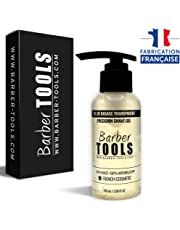 ✮ BARBER TOOLS ✮ Gel de afeitado transparente de 100 ml - Para un afeitado preciso de los contornos de la barba (visibilidad, deslizamiento y máxima protección) - MADE IN FRANCE