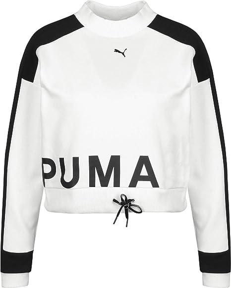 Puma Sudadera Chase Blanco Mujer