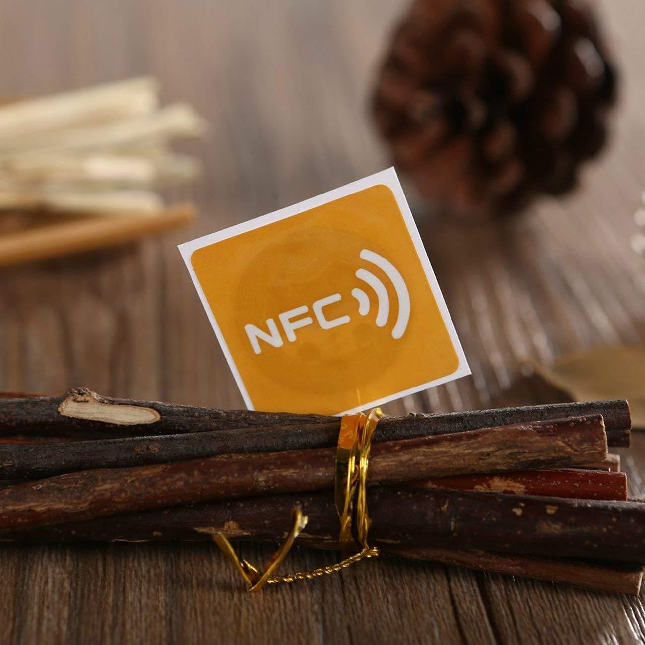 Elviray 7pcs Universale NFC Etichetta Multicolore Piazza NFC Tag Adesivi Lables per Dispositivo NFC-Enabled allIngrosso