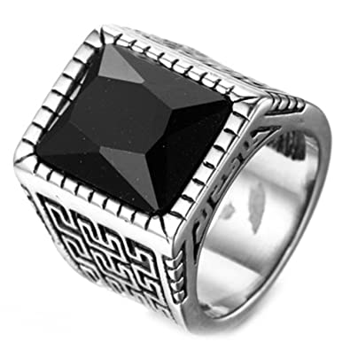 Retro Vintage Style Stainless Steel Signet Ring