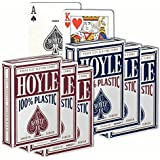6 Decks of Hoyle 100% Plastic Playing Cards