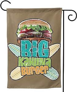 Liuqidong Big Kahuna Burger Garden Flag Double Sided Yard Flag Burlapr Yard Decor Outdoor Yard Home Decorations