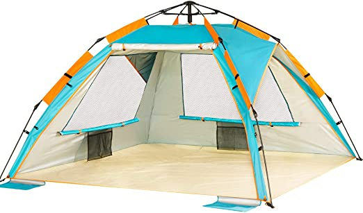 ZOMAKE Pop Up Tent 3 4 Person, Beach Tent Sun Shelter for Baby with UV Protection Automatic and Instant Setup Tent for Family