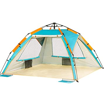 Portable 50 2-3 Person Baby Beach Pop Up Tent Uv Protection Instant Sun Shelter Cabana UV Shade For Family Garden/Camping/Fishing/Beach Times