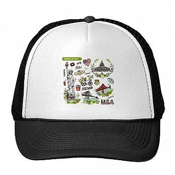 DIYthinker Gorra de béisbol de Primavera Liberty House USA Pintada Gorros  de Nylon Gorro Casquillo Ajustable  Amazon.es  Deportes y aire libre 5c6017f6ab9