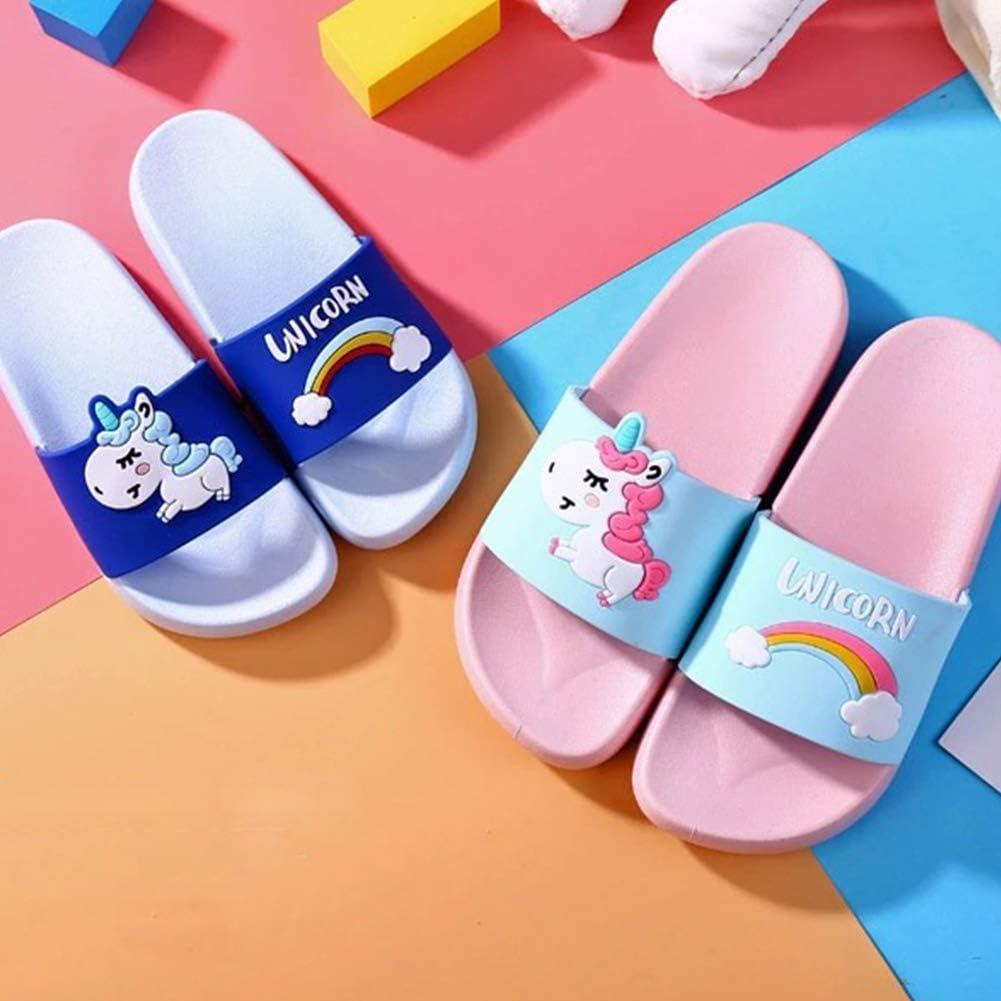 Licorne Pantoufles pour Fille De Gar/çon Arc Chaussures Animal Enfants DInt/érieur Chaussons Cartoon Enfants D/ét/é Pantoufles