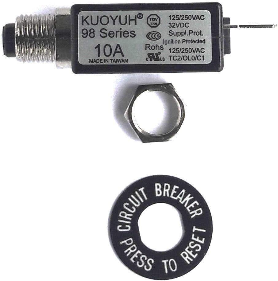 Kuoyuh 10a Serie 98 Sicherungsautomat 125 250vac 50 60hz Baumarkt