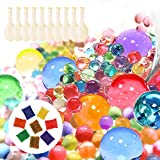 U-Goforst Water Beads Pack (80000 Small Beads/ 50 Giant Beads/10 DIY Stress Balloons) Orbeez Spa Refill Sensory Kids Toys Growing Balls Orbies Ice Jelly Water Gel Bead Plants Vases Decoration