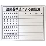 BIGMAN(ビッグマン) 表示板 BHH-02 建築基準法による確認済 看板 ボード