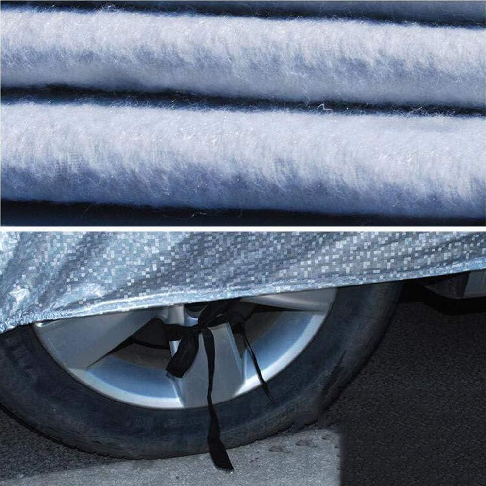 AGLZWY Couverture De Voiture Sedan SUV B/âche Protection Imperm/éable /Étanche /À La Poussi/ère Bande Fluorescente Fermeture /Éclair De Porte Lat/érale Color : Silver, Size : 370X170X150CM
