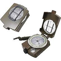 Tuanhui Compass,Outdoor multifunctionele kompas, met lumineuze, Army Green.