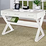 Coaster Casual 3 Drawer White Writing Desk