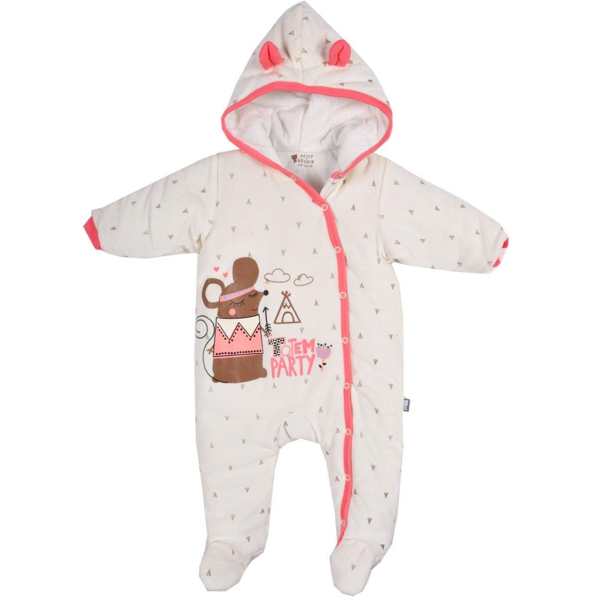 Combi pilote bébé fille Totem Party - Taille - 3 mois (62 cm) Petit Béguin