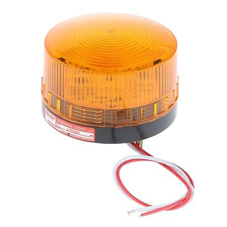Gelb Homyl Warnblinkleuchten Warnleuchte LED-Licht Blinklicht Rundumleuchte f/ür Nebel//Regensaison//Schneefall//Windig AC 24V