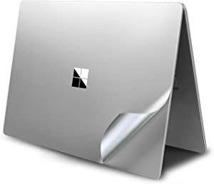 VFENG Premium 4-in-1 Full Body Skin Sticker Decal Decorative Protector for Microsoft Surface Laptop 3 15 Inch Only - Silver