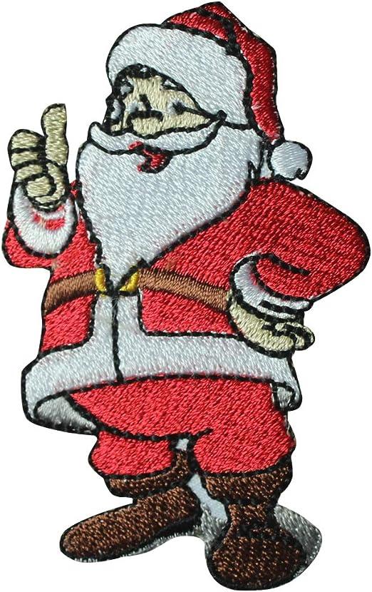 REAL EMPIRE Parche de Navidad con diseño de Papá Noel con Texto en ...