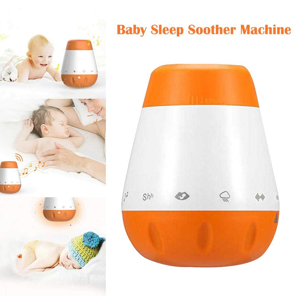 Smart Music White Noise Voice Sensor Baby Infants Therapy Sound Machine Sleep Soother Sleep Aid Instrument Auto-Off Timer by MKO