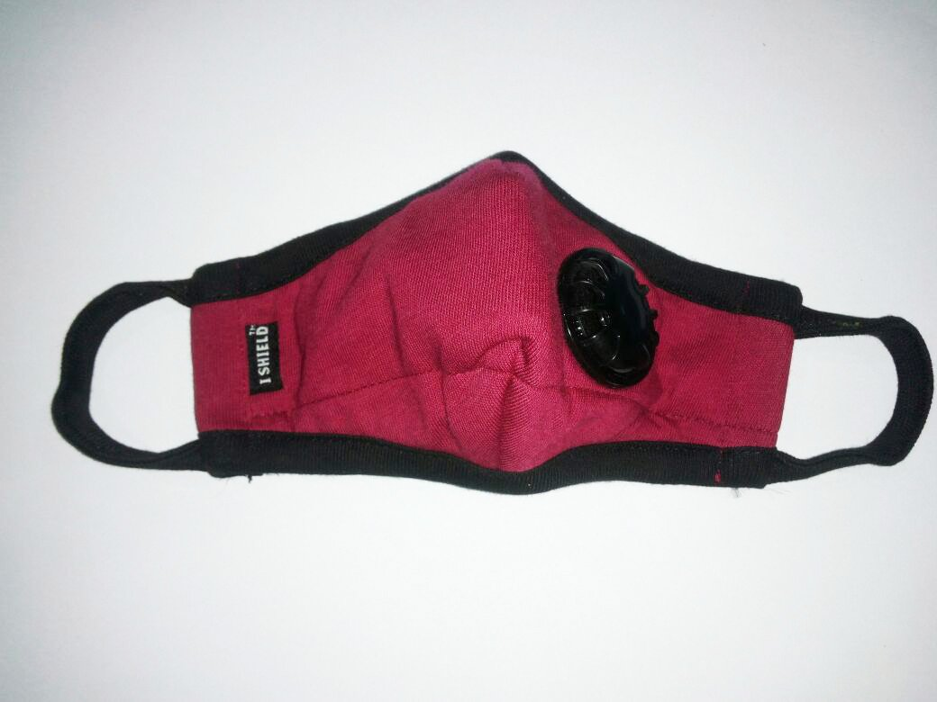 Eco Mask Reusable and Washable N99 Air Mask Germ Free - Maroon - Small Size Suitable for Kids (Below 35kg)