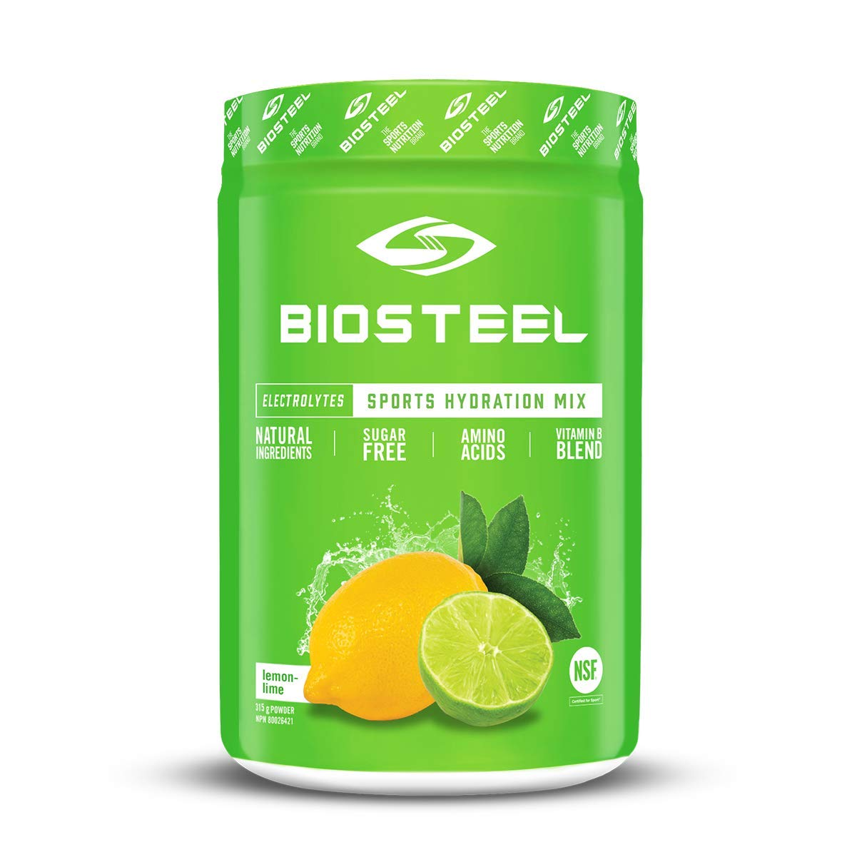 Biosteel High Performance Sports Drink Powder, Naturally Sweetened with Stevia, Lemon Lime, 315 Gram