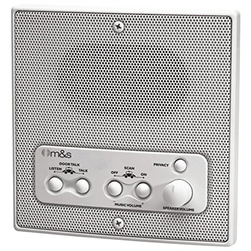 Indoor Intercom (M&S Systems DMC1RS Intercom Indoor Remote Room Speaker White W/Radio Scan Electronics Computers Accessories)